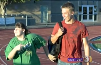Football Team Helps Bullied Student (VIDEO)