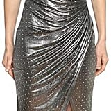 Balmain Embellished Lamé Jersey Dress