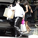 Sarah Jessica Parker was seen lifting bags into a car in front of her apartment building.