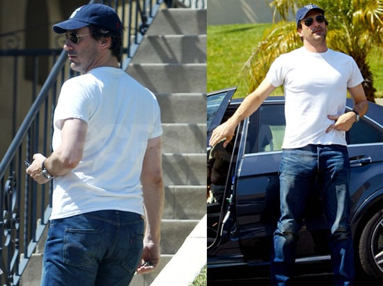Photos of Jon Hamm And Jennifer Westfelt at Their Home in LA