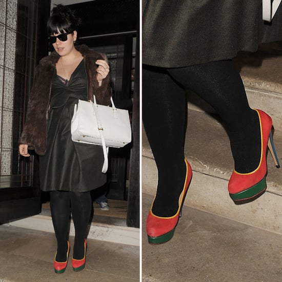 Lily Allen in Colour Block Platforms