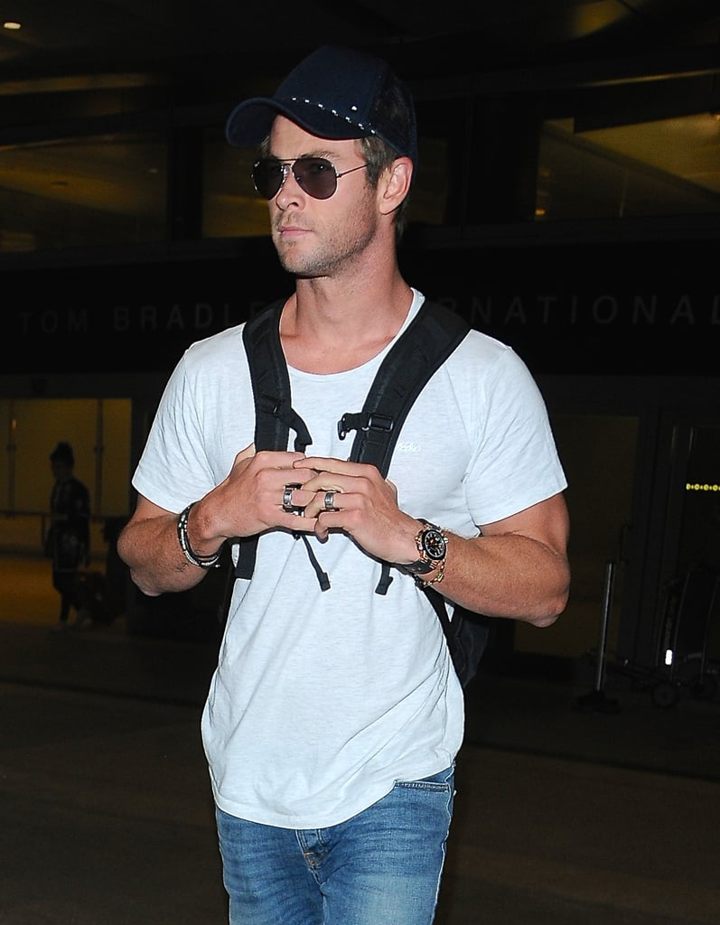 Only Chris Hemsworth Can Make a Plain White T-Shirt Look This Good