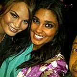 Rachel Roy snapped a party pic with Chrissy Teigen.