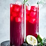 Blackberry Hibiscus Spritzer With Tarragon