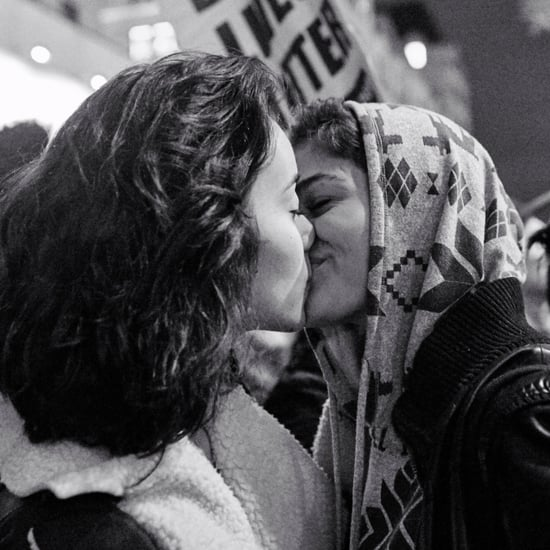 Women Kissing at Trump Protest