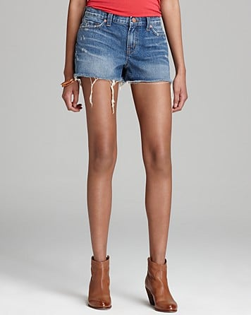 I would happily live in cutoffs all summerlong (and all yearlong, weather willing). I've tried out a million pairs, and my favorite is J Brand's classic style ($154). They're not too short, not too long, and frayed perfectly. — LM