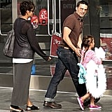Halle Berry joined her husband, Olivier Martinez, and daughter Nahla Aubry at the movies in LA.