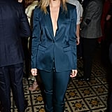 Another chic Burberry trouser suit gave Suki an androgynous look for Harvey Weinstein's BAFTA nominee dinner in London in February 2014.