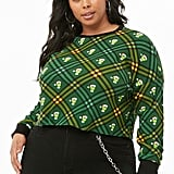 The Grinch Thermal Plus-Size Top