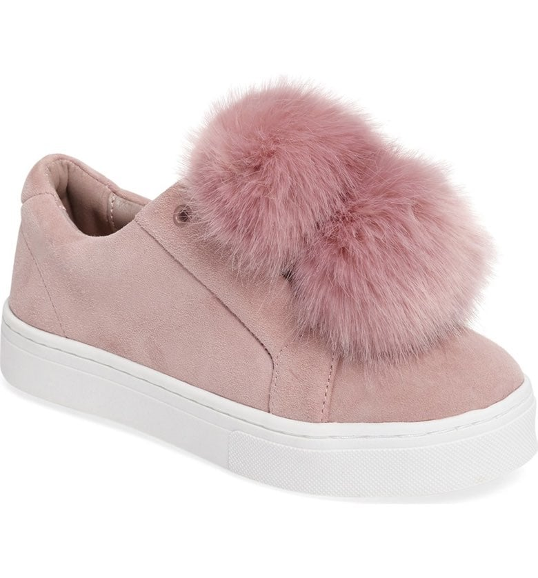 Sam Edelman's Leya Shoe ($100) comes equipped with the perfect double pom-pom fixture.
