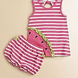 Florence Eiseman's Striped Watermelon Set ($26, originally $74) includes a tunic-style dress and sweet ruffled bloomers.