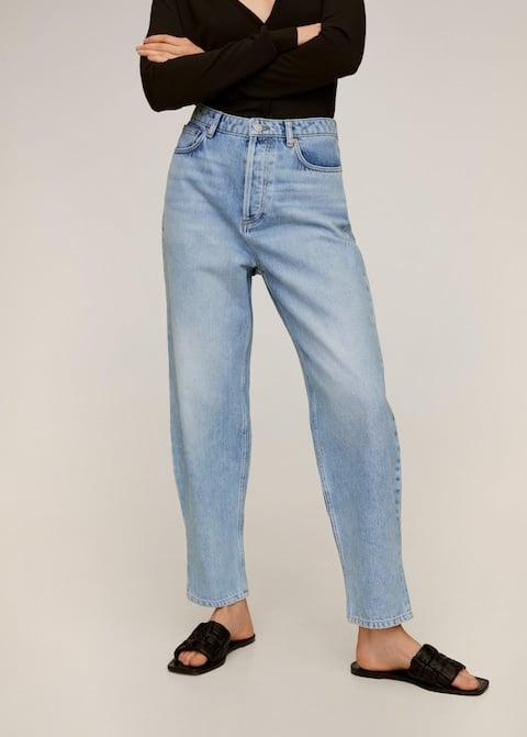 Mango Medium Wash Fit Balloon Jeans