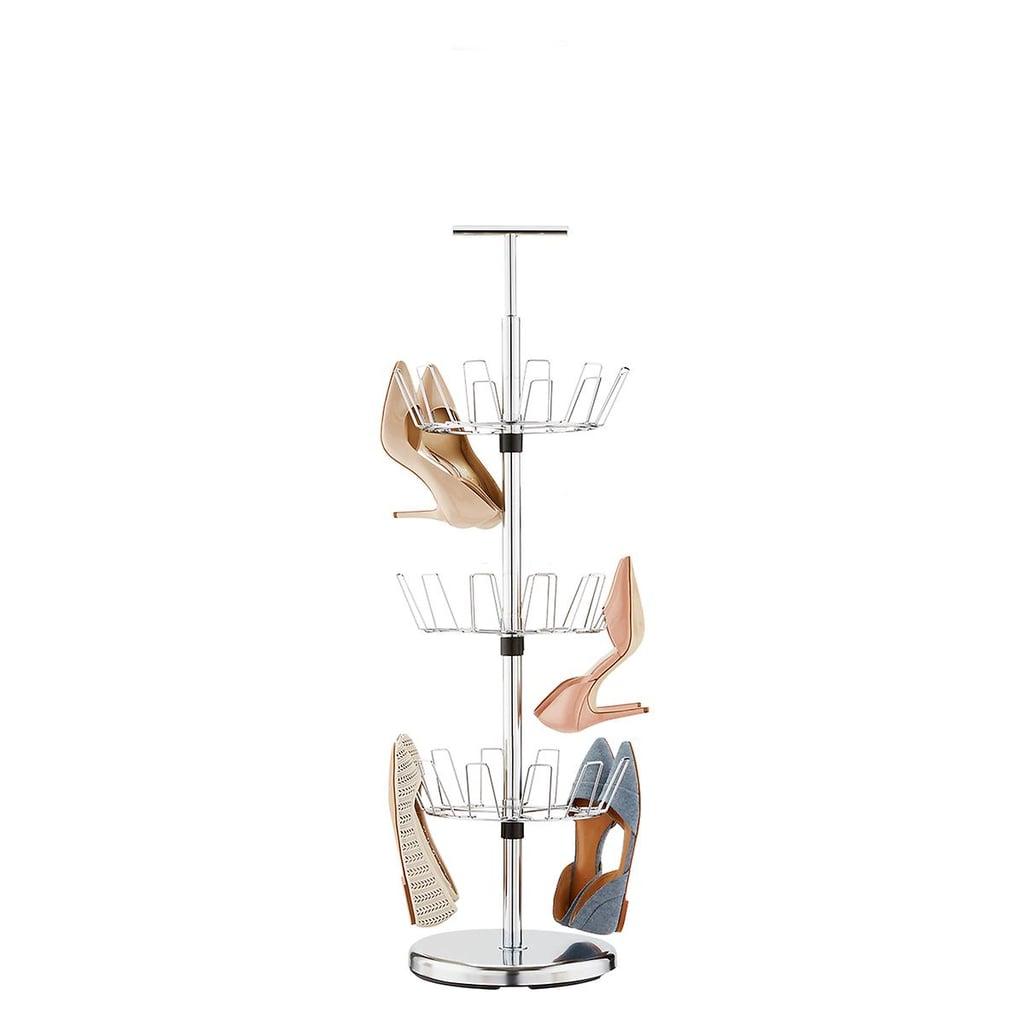 Chrome 3-Tier Shoe Storage Tree