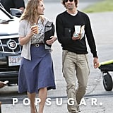 Kate Winslet chatted with Ned Rocknroll on the set of Labor Day.