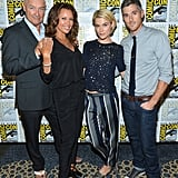 Rachael and her 666 Park Avenue co-stars, Terry O'Quinn, Vanessa Williams and Dave Annable, attended Comic-Con together in July 2012.