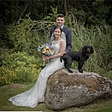 This pup knows better than to be left out of the wedding photos!