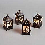 Set of 4 Mini Halloween Cutout LED Hanging Lanterns ($28)