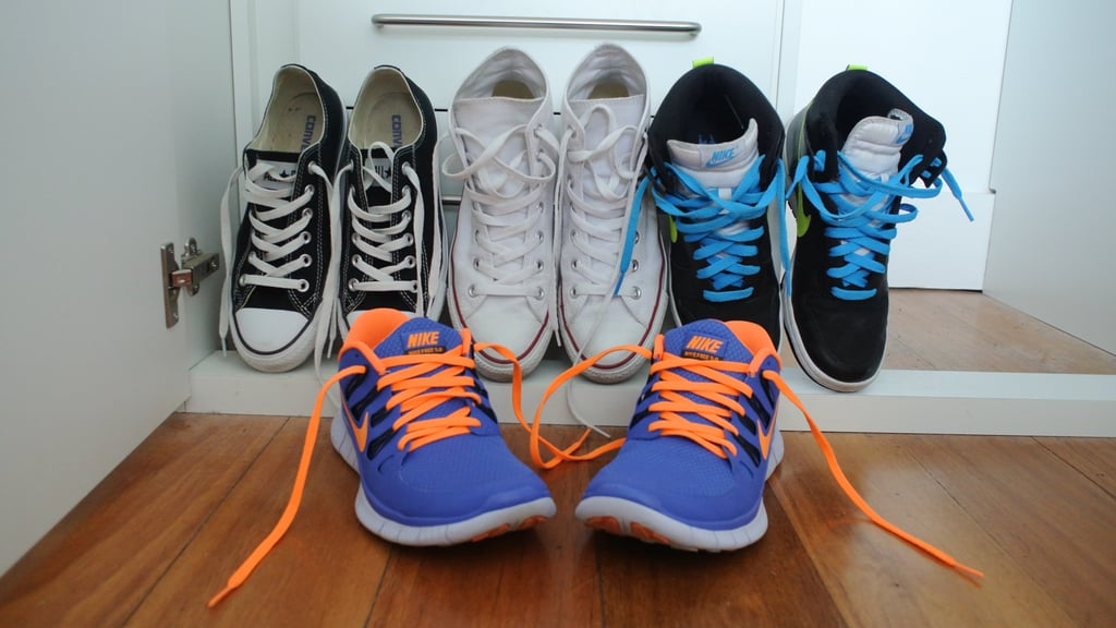 Oh sneakers, my comfortable little friends. When I'm not trying the latest must-do exercise in my Nike Free's for POPSUGAR Health & Fitness, you can usually find me in Cons and jeans. I like to keep them nice and white using window cleaner and some paper towel.