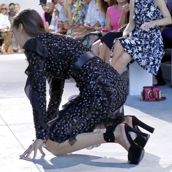 Bella Hadid Falling at Michael Kors NYFW Show 2016