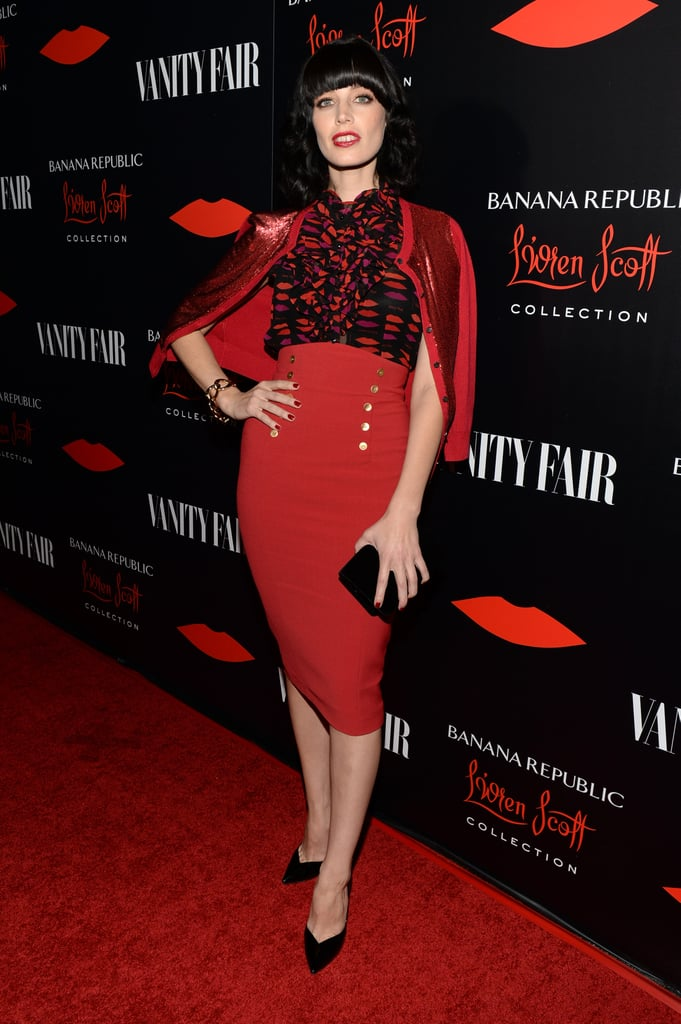 Jessica Paré was retro perfection working a full L'Wren Scott for Banana Republic ensemble for the collection's launch late last year. Where to Wear: A steamy evening at the burlesque club.