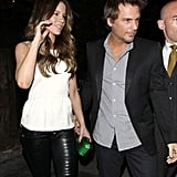 Kate Beckinsale and Len Wiseman went out to dinner.