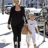 Gwen Stefani and Kingston Rossdale spent their Thursday together in LA.