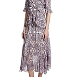 Rebecca Taylor Silk Paisley Ruffled Dress ($550)