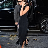 Victoria wearing a fringe-bottom dress in New York in 2015.