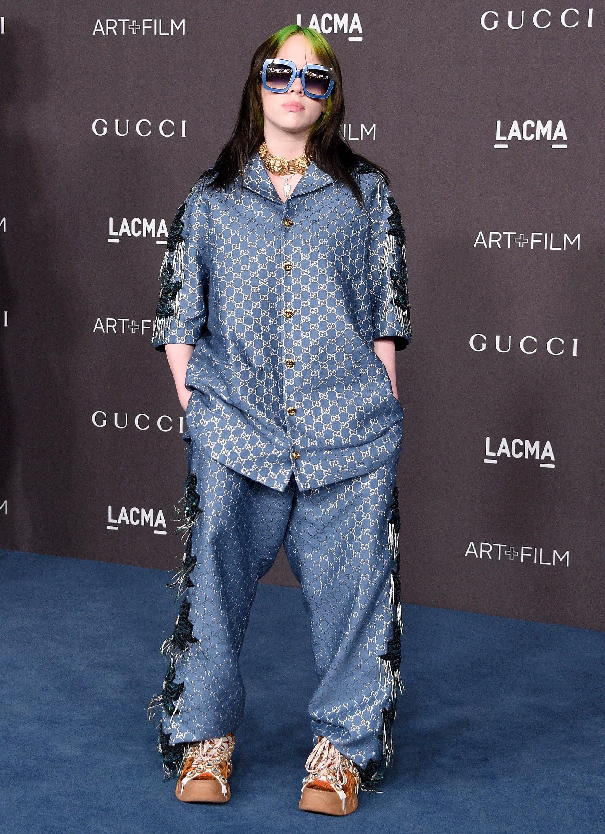 Billie Eilish Wore Silk Gucci Pajamas