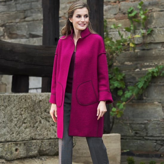 Queen Letizia's Marcos Luengo Pink Coat October 2016