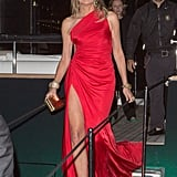 Sharon Stone stepped out in a slinky, fiery red Roberto Cavalli gown — and proved she's eternally ageless.