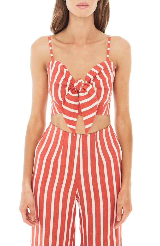 Striped Crop Tank and Wide-Leg Pants
