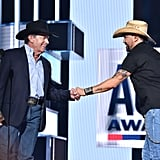 Pictured: George Strait and Jason Aldean