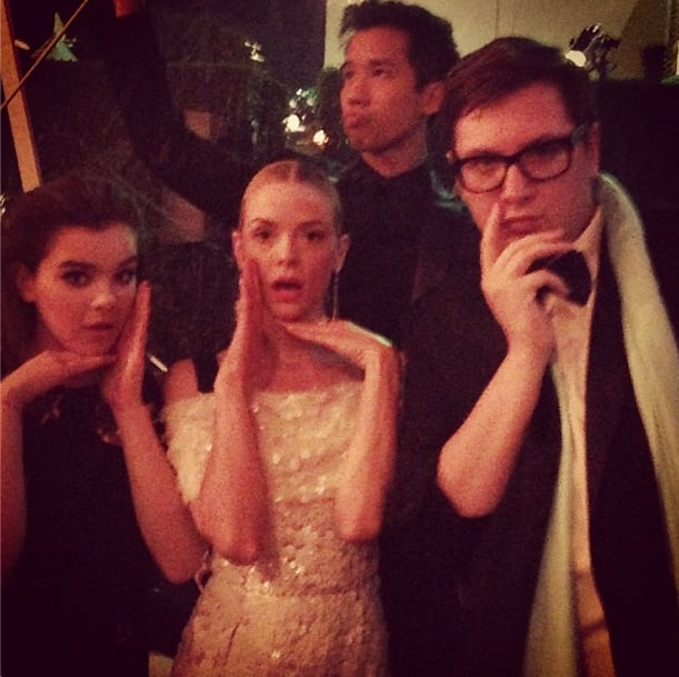 Jaime King and Hailee Steinfeld broke out their dance moves. Source: Instagram user jaime_king
