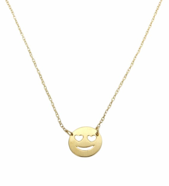 Heart eyes emoji necklace ($48)