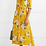 Sea Pia Floral-Print Crepe de Chine Wrap Dress