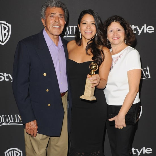Gina Rodriguez Throwback Picture With Her Parents