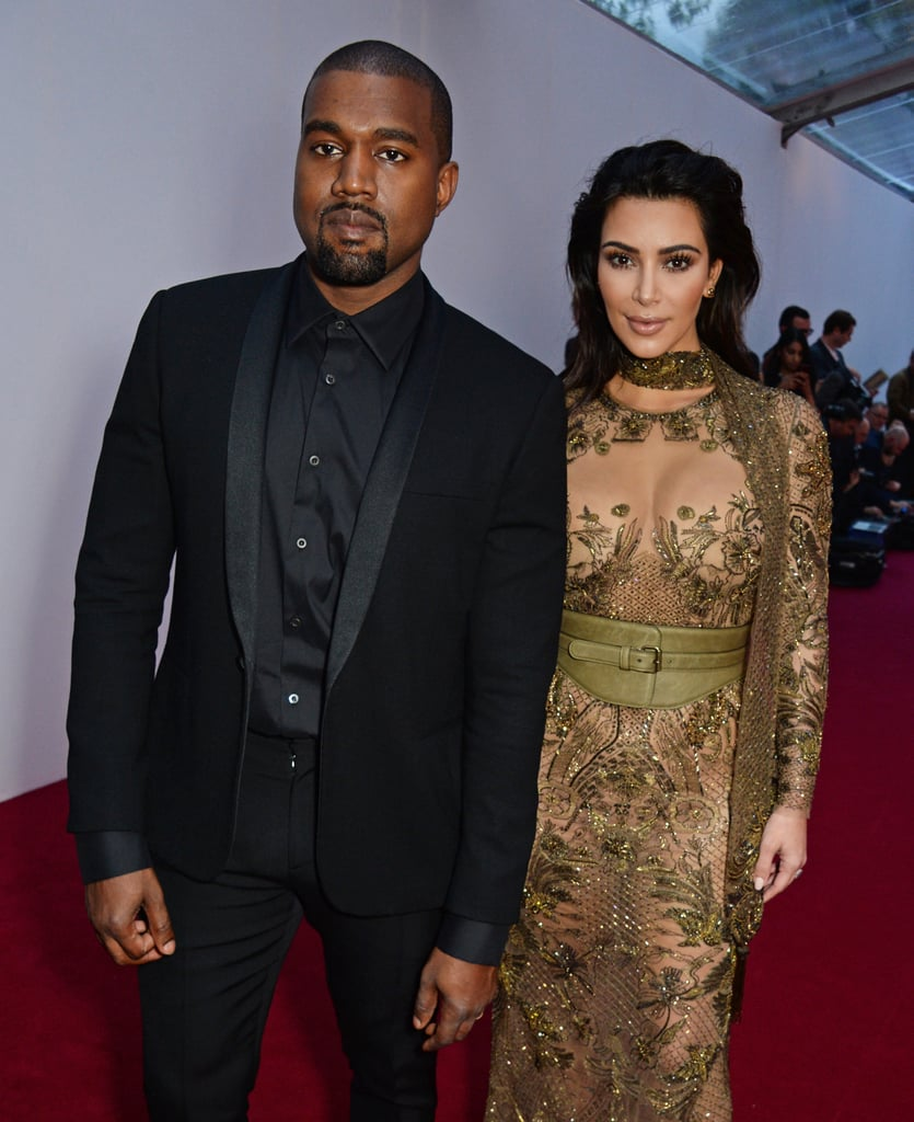 Kim Kardashian and Kanye West turned heads when they attended Vogue's 100 Gala dinner in London on Monday. The couple — who will be ringing in their two-year wedding anniversary on Tuesday — dressed to the nines in coordinating ensembles and exchanged loving glances upon arriving at the fete. Just a day before, the pair popped up at the premiere of La Traviata at the Teatro dell'Opera in Rome, where they re-created their infamous Vogue cover. While there is no word on how Kim and Kanye plan to celebrate their milestone, we can only guess it'll be something grand, much like their lavish Italian wedding.