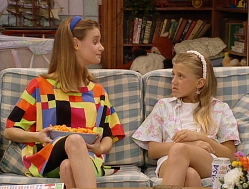 """Kimmy Gibbler: [Talking to DJ] """"Your sister is such a tattletale."""" Steph: """"I am not, and I'm telling you said that."""""""