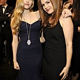 Amanda Seyfried and Isla Fisher posed together.