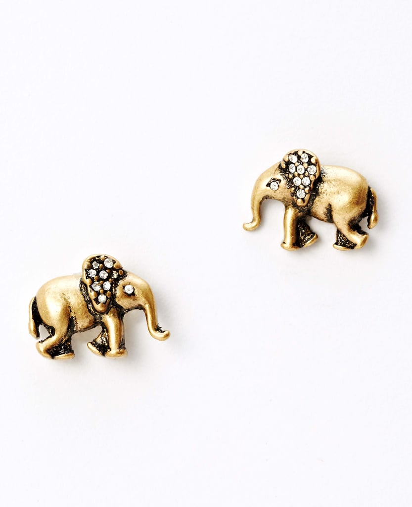 To honor St. Jude Children's Research Hospital, Ann Taylor created a limited-edition elephant jewelry collection. Half of the proceeds of any of these pieces, like these earrings ($30), will go to the hospital.