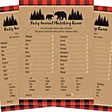 Woodland Rustic Buffalo-Plaid Baby-Animal Matching Baby Shower Game