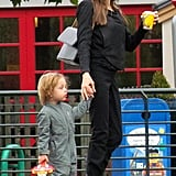 Angelina Jolie and son Knox.
