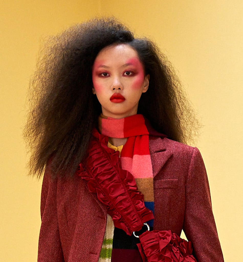 Candy Floss Hair and Fuchsia Blush at Molly Goddard Autumn 2021