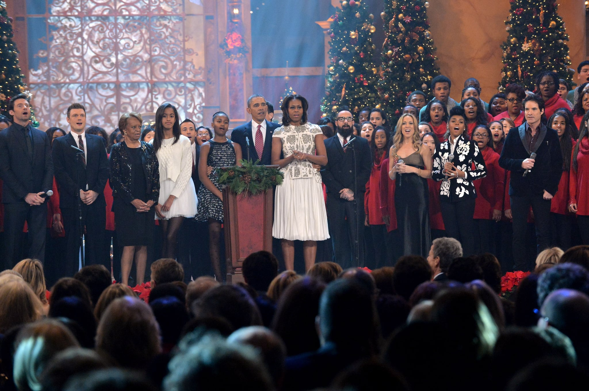 The Obamas sang with the Backstreet Boys, Sheryl Crow, Hugh Jackman, and more stars during the special.