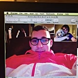 The couple had a cute video chat when their busy schedules kept them apart.