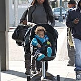 Jennifer Hudson Hangs Up Her Oscars Gown For a Casual Walk With Her Son