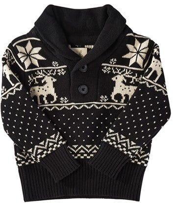 Peek 'Reindeer' Shawl Collar Sweater