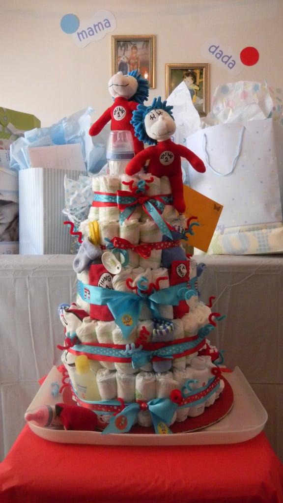Thing 1 Thing 2 Diaper Cake