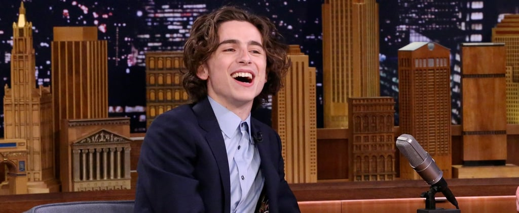 Timothee Chalamet on The Tonight Show Jan. 2018